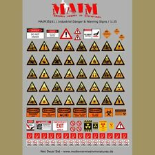 Industrial Danger & Warning Signs / 1:35 scale A4 sheet decal set