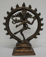 Indian bronze Diety, Hindu Dancing Shiva as Lord Nataraja, nice patina