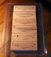 Stampin Up! Long Fellows ~ Hostess Stamp set (6) Retired set