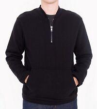 New~American Apparel Men's Pullover HVT Half Zip Crewneck RSAHVT4183 Black L