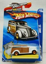 HOT WHEELS 2010 HOT RODS 1937 FORD WOODY WAGON #R7566 WHITE 1:64 NEW