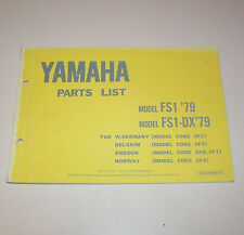 Ersatzteilkatalog / Parts List Yamaha FS 1 / FS 1-DX - Edition 1979!