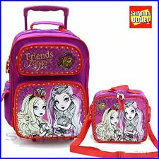 "Ever After High  16"" Large Rolling School Backpack Lunch Bag 2pc Set"