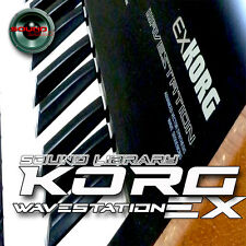 KORG WAVESTATION EX Original Factory & New Created Sound Library/Editors on CD