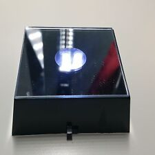 Set of 2  - 3 Color LED Light Base - Black Base
