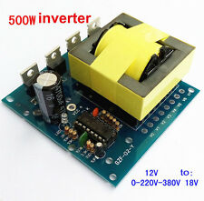 500W DC-AC Converter Step-up 12V to 220V 380V Inverter Board Transformer Power