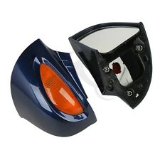 Dark Blue Pair Rear View Mirrors Turn Signal For BMW R1100 RT R1100 RTP R1150 RT