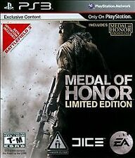 PS3 Medal of Honor Limited Edition Video Game 720p HD Multiplayer Online Action