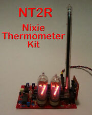 Nixie Thermometer Kit - Tubeless - 12VDC - PCB w/ Parts (No nixie, nor bargraph)