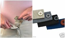 SET OF 4 BUTTON HOLE WAIST BAND EXTENDERS * TROUSERS & SKIRT *MATERNITY EXPANDER
