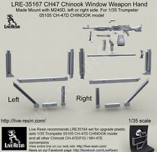 Live Resin 1/35 #35167 CH-47 Chinook Window Weapon Hand Made Mount with M240D