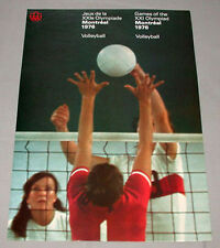 Montreal 76 Summer Olympic Official Volleyball Poster