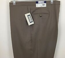SANSABELT 44 REGULAR TAN Polyester PANTS FLAT FRONT Side Pockets NEW/UNHEMMED