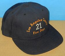 + Authentic California Los Angeles Station 21 Fire Department Hat Cap Navy