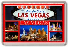 FRIDGE MAGNET - LAS VEGAS - Large - USA TOURIST