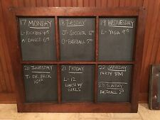 Antique Vintage Chalkboard Calendar Message Board Window School Slate 30x36