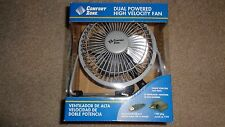 """Gray Comfort Zone USB Port Personal 4"""" Metal Fan w/AC Adapter and On/Off Switch"""