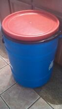 30 Gallon Blue Plastic Stackable Food Grade Barrel With Removable Lid SALE!!