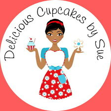 24 GLOSS PERSONALISED STICKERS FOR, BAKING, CAKE MAKING, CUPCAKE BUSINESS