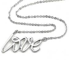 Valentine's Day Gift Love Pendant Choker Necklace Charm Silver Tone Gift for Mom