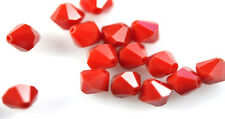25 Swarovski Crystal Beads # 5301 Dark Red Coral 6MM