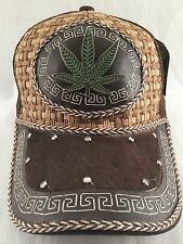 MARIJUANA LEAF WESTERN WEAR snap back TRUCKER MESH HAT CAP CACHUCHA