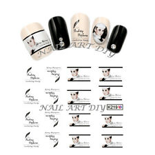 16 Stickers Nail Art Water transfer-unghie adesivi TATTOO Audrey Hepburn!