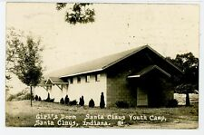 Girl's Dorm RPPC Santa Claus IN Youth Camp—Vintage Photo ca. 1950s