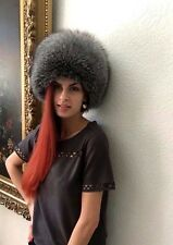 Blue silver fox full fur hat.S/M or L/XL