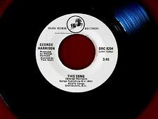 GEORGE HARRISON~THIS SONG~RARE ~LEARNING HOW TO LOVE YOU~DARK HORSE ~ POP 45