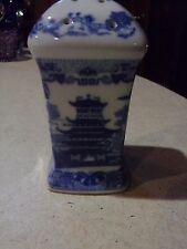 Blue Willow China Blue Large Shaker Or Hat Pin Holder