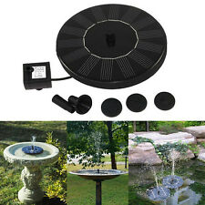 Floating Solar Powered Pond Garden Water Pump Fountain Pond For Bird Bath Tank