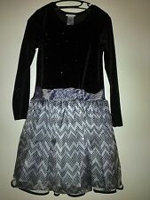 Supe nice - ASHLEY ANN - Girls long sleeve dress - glitter black/silver- Size 16