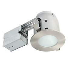 "4"" Damp Rated Shower Recessed Lighting Kit Dimmable Downlight Brushed Nickel ..."
