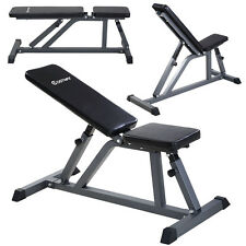 Costway Adjustable Folding Sit Up AB Incline Abs Bench Flat Fly Weight Workout