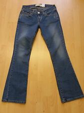 X580 WOMENS LEVI STRAUSS STRETCH 524 BLUE TOO SUPERLOW BOOTCUT LEG JEANS W30 L32