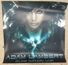 "Adam Lambert Glam Nation Live Promotional Poster Approx 24"" By 24"""