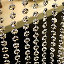 New 33 FT Crystal Clear Acrylic Bead Garland Chandelier Hanging Wedding Supplies