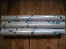 NEXT TEAL BIRD NARA WALLPAPER ROLL VINTAGE SHABBY CHIC PASTE Wall Paper