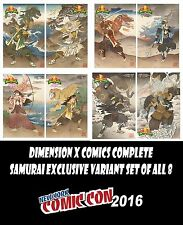 MIGHTY MORPHIN POWER RANGERS COMPLETE SET SAMURAI EXCLUSIVE VARIANTS NYCC 2016