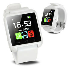 White Bluetooth Smart Wrist Watch Phone Mate For Android IOS Samsung iPhone