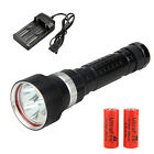 5000Lm Scuba Diving 3x CREE XML L2 LED Flashlight Torch Waterproof Light 26650