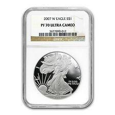 2007-W Proof Silver American Eagle Coin - PF-70 UCAM NGC