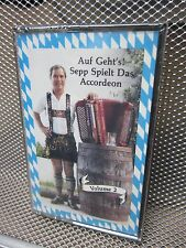 AUF GEHT cassette tape  SEPP DIEPOLDER accordion NEW Tampa Florida yodeling OG