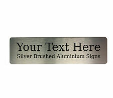Custom Personalised Your Text Metal Aluminium 200x50mm Sign Door Plaque Office