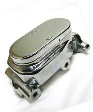 "Chrome Aluminum Smooth Flat Top Brake Master Cylinder with 1"" Bore GM Street Rod"