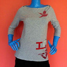 Aerie American Eagle Love Heather Gray T-Shirt Top Juniors L Womens M Novelty