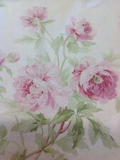 """SANDERSON CURTAIN FABRIC DESIGN """"Adele"""" RASPBERRY/IVORY DCAVAD204 By The Meter"""