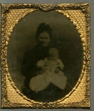 AMBROTYPE of a Mother & Baby- 1860/70s