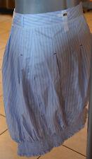 jupe asymétrique bleu ciel et blanc HIGH USE taille 36 NEUVE ÉTIQUETTE